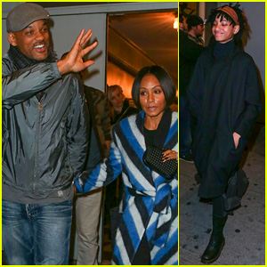 Will Smith, Jada Pinkett Smith, & Daughter Willow Catch Broadway's Hottest Musical!