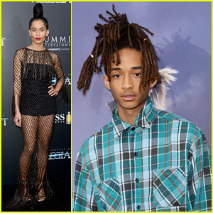 Zoe Kravitz & Jaden Smith Hit NYC For 'Allegiant' Premiere!