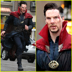 Benedict Cumberbatch Films 'Doctor Strange' in NYC - First Pics!