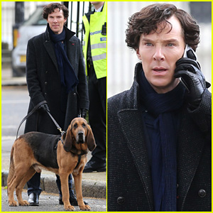 Benedict Cumberbatch Films 'Sherlock' Season Four with His Co-Stars