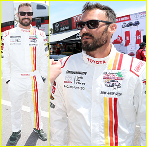Brian Austin Green Helps Kick Off Toyota Grand Prix Celebrity Race!