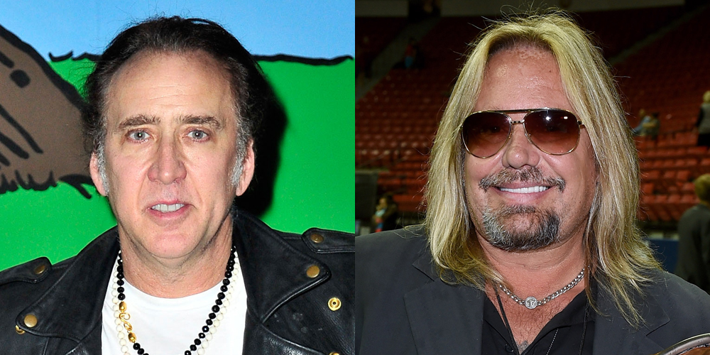Nicolas Cage & Vince Neil Fight Outside of Vegas Hotel (Video)