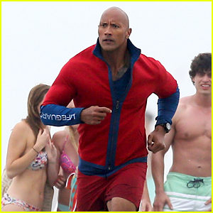 Dwayne Johnson Films Dramatic Rescue for 'Baywatch'