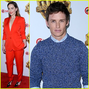 Eddie Redmayne & Emilia Clarke Promote Movies at CinemaCon