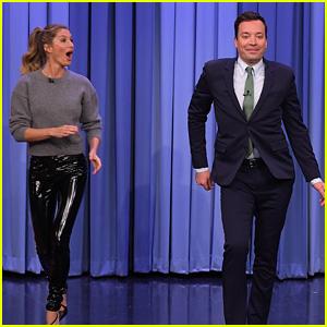 Gisele Bundchen Teaches Jimmy Fallon How to Walk a Runway Like a Supermodel - Watch Now!