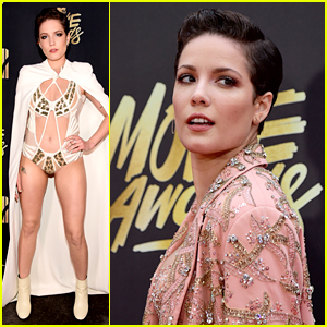 Halsey Wows With Wardrobe Change at MTV Movie Awards 2016