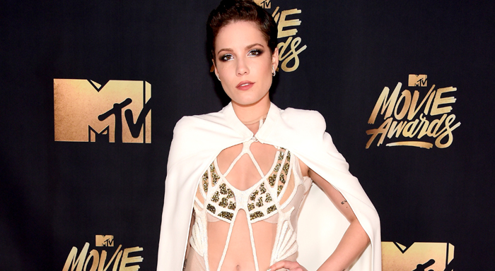 e71ece40c227 Halsey Wows With Wardrobe Change at MTV Movie Awards 2016