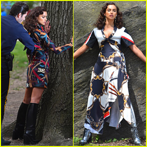 Irina Shayk Dons Several Looks for Central Park Photo Shoot!
