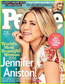 Jennifer Aniston Named People Magazine's World's Most Beautiful Woman 2016!