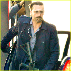 Jon Hamm is Locked & Loaded on 'Baby Driver' Set in Atlanta