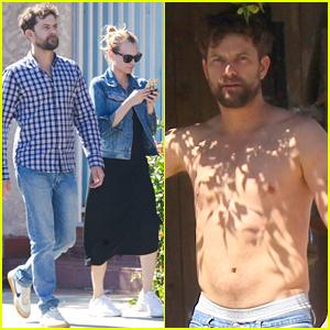 Joshua Jackson Goes Shirtless While Saying Bye to Diane Kruger