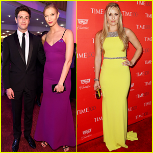 Karlie Kloss Wears Purple for Prince at Time 100 Gala with Boyfriend Joshua Kushner