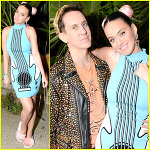 Katy Perry Celebrates with Jeremy Scott at Coachella Party 2016!
