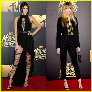 Kendall Jenner & Gigi Hadid Are Bold Beauties at MTV Movie Awards 2016
