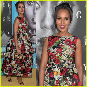 Kerry Washington Wears Floral Design at 'Confirmation' Premiere