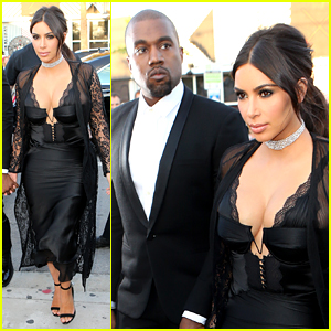 Kim Kardashian Kanye West Are Perfect Pair At Friends Wedding