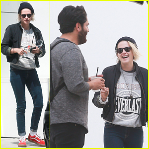 Kristen Stewart Shares a Laugh with BFF CJ Romero