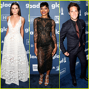 Lea Michele Reunites With 'Scream Queens' Co-Stars at GLAAD Media Awards 2016