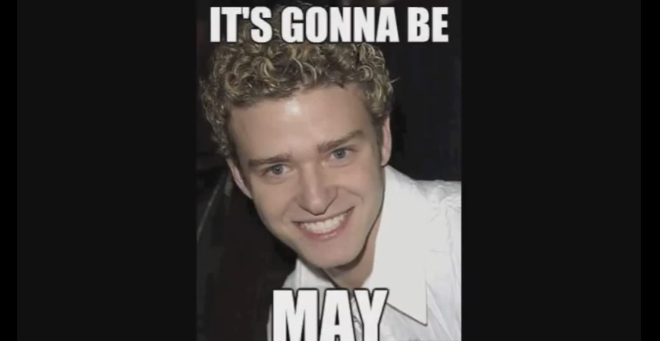 Justin Timberlake Pokes Fun At Lsquo It Rsquo S Gonna Be May Rsquo Meme