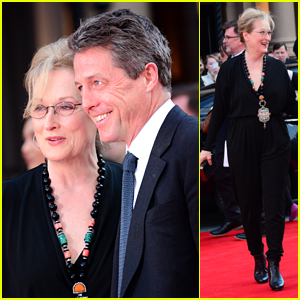 Meryl Streep & Hugh Grant Share Smiles at 'Florence Foster Jenkins' Premiere
