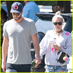 Miley Cyrus & Liam Hemsworth Grab Breakfast in Australia