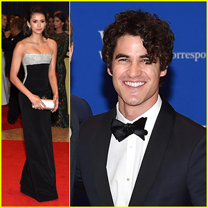 Nina Dobrev Joins Darren Criss for White House Correspondents' Dinner 2016