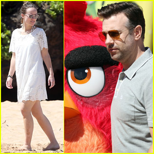 Olivia Wilde & Jason Sudeikis Spend Time in Hawaii for 'Angry Birds' Press