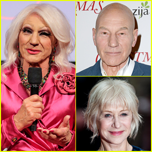 Patrick Stewart Dresses in Drag, Gets Compared to Helen Mirren