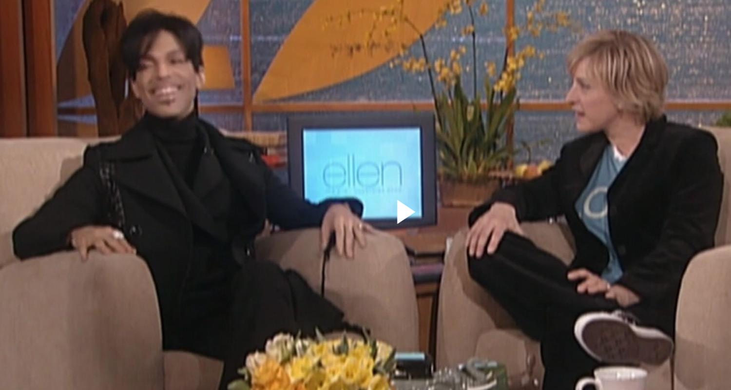Ellen degeneres recalls prince s rare appearance on season one of her show video ellen - Ellen show videos ...