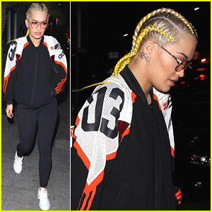 Rita Ora Shows Off Blonde Cornrows While Out to Dinner