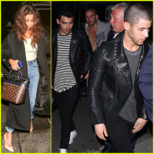 Selena Gomez & Nick Jonas Party After Sunday's Award Shows!