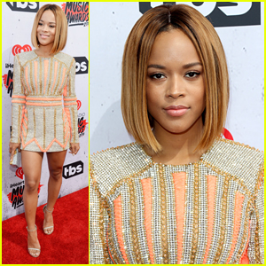 Serayah Supports Taylor Swift at iHeartRadio Music Awards 2016