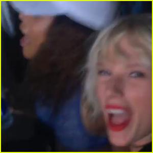 Taylor Swift Dances Around at Calvin Harris' Coachella Show!