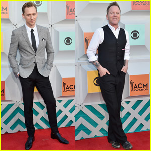 Tom Hiddleston & Kiefer Sutherland Stop by the ACM Awards 2016