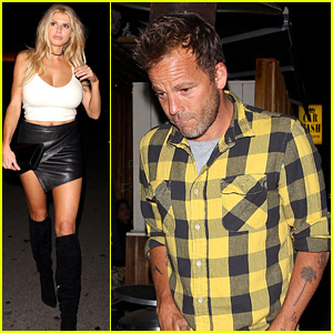 Charlotte McKinney Enjoys Night Out with Boyfriend Stephen Dorff