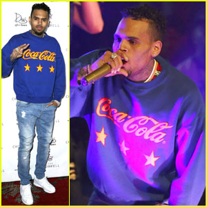Chris Brown Celebrates His 27th Birthday in Sin City
