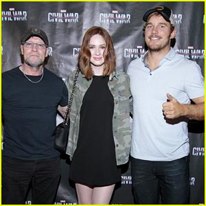 Chris Pratt & 'Guardians of the Galaxy' Co-Stars Support Marvel at 'Captain America' Screening!
