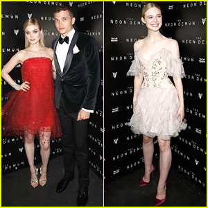 Bella Heathcote & Elle Fanning Celebrate 'Neon Demon' At Official After-Party in Cannes
