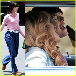 Emma Stone Sings in the Car While Playing Billie Jean King