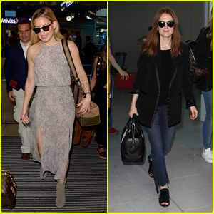 Kate Hudson & Julianne Moore Seen at the Airport for Cannes 2016
