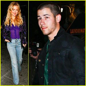 Kate Hudson & Nick Jonas Grab Dinner Before the Met Gala!