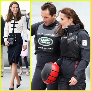 Kate Middleton Visits Ben Ainslie Racing's America's Cup Base To Launch 1851 Trust!