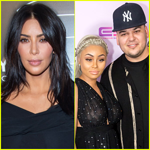 Kim Kardashian Comments on Rob Kardashian & Blac Chyna's Pregnancy