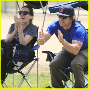 Mark Wahlberg & Wife Rhea Durham Cheer On Their Son at Soccer Game!