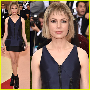 Michelle Williams Shows Some Leg at Met Gala 2016