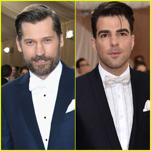 Nikolaj Coster-Waldau & Zachary Quinto Stay Sharp at Met Gala