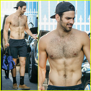 Nyle DiMarco Goes Shirtless While Leaving 'DWTS' Rehearsals