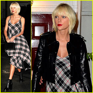 Taylor Swift Dines at Anna Wintour's Home Before Met Gala!