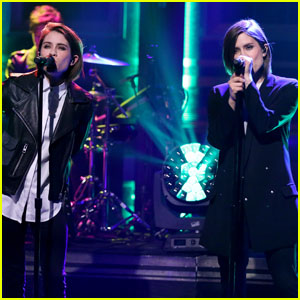 Tegan & Sara Perform 'Boyfriend' on 'The Tonight Show' (Video)