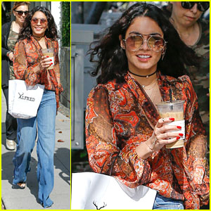 Vanessa Hudgens Grabs Coffee With Friends After NBC Upfronts